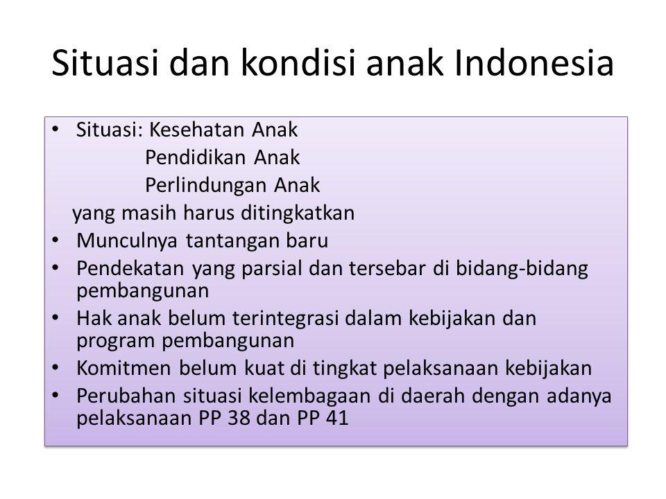 Situasi dan kondisi anak Indonesia