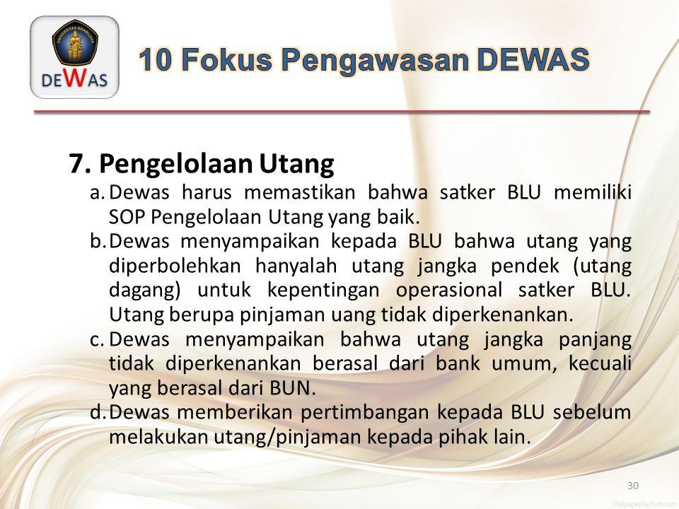 10 Fokus Pengawasan DEWAS