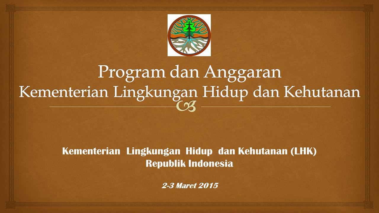 Program dan Anggaran Kementerian Lingkungan Hidup dan Kehutanan
