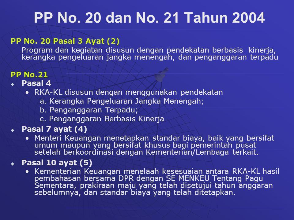 PP No. 20 dan No. 21 Tahun 2004 PP No. 20 Pasal 3 Ayat (2)