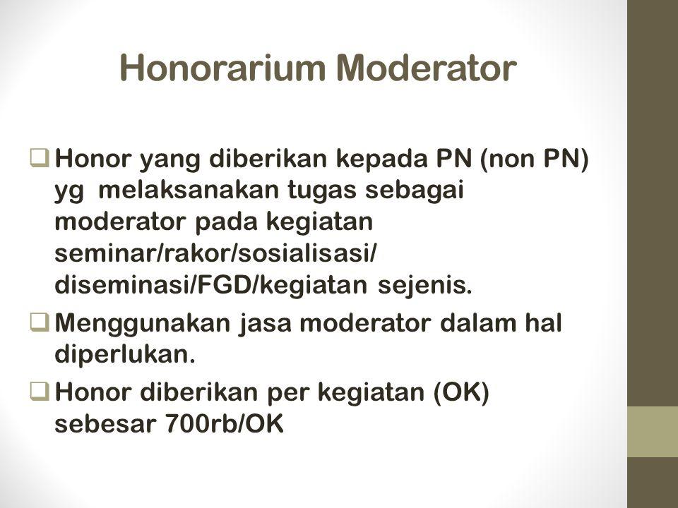 Honorarium Moderator