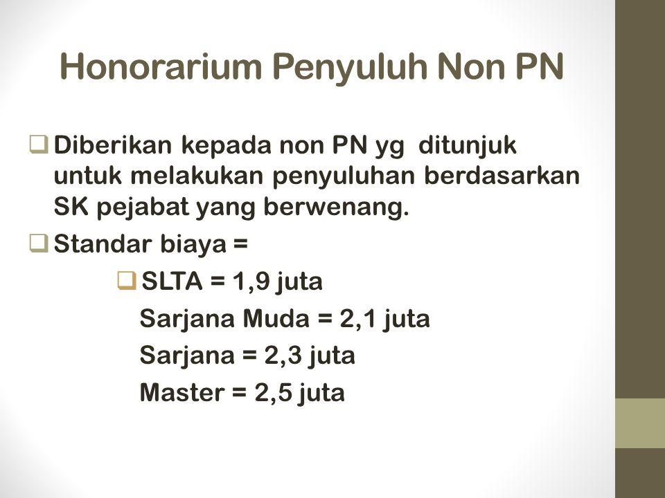 Honorarium Penyuluh Non PN