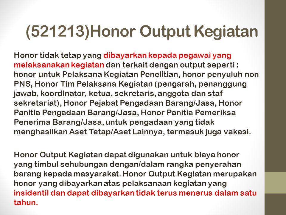 (521213)Honor Output Kegiatan