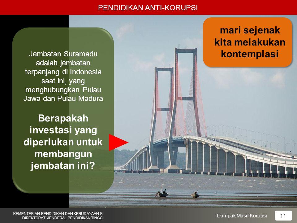 Berapakah investasi yang diperlukan untuk membangun jembatan ini
