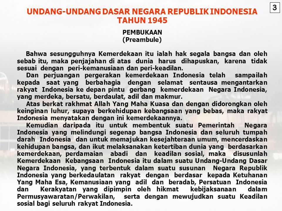 UNDANG-UNDANG DASAR NEGARA REPUBLIK INDONESIA