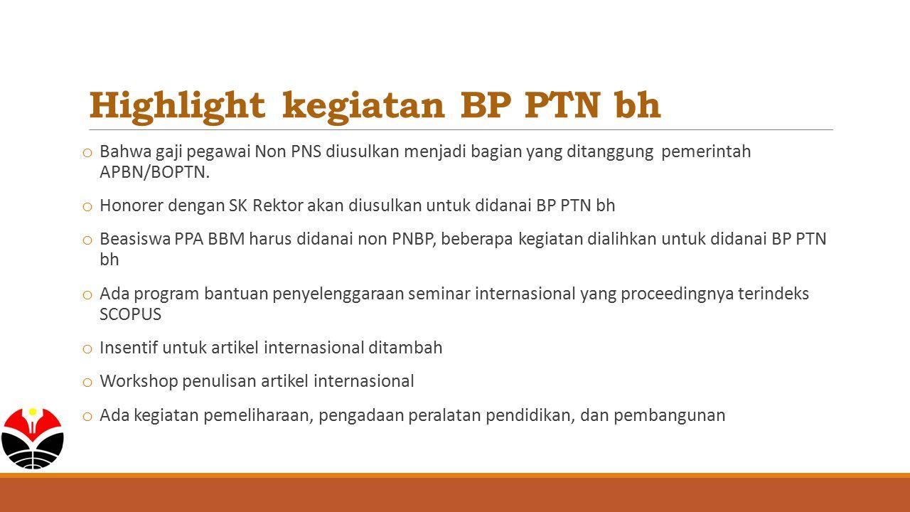 Highlight kegiatan BP PTN bh