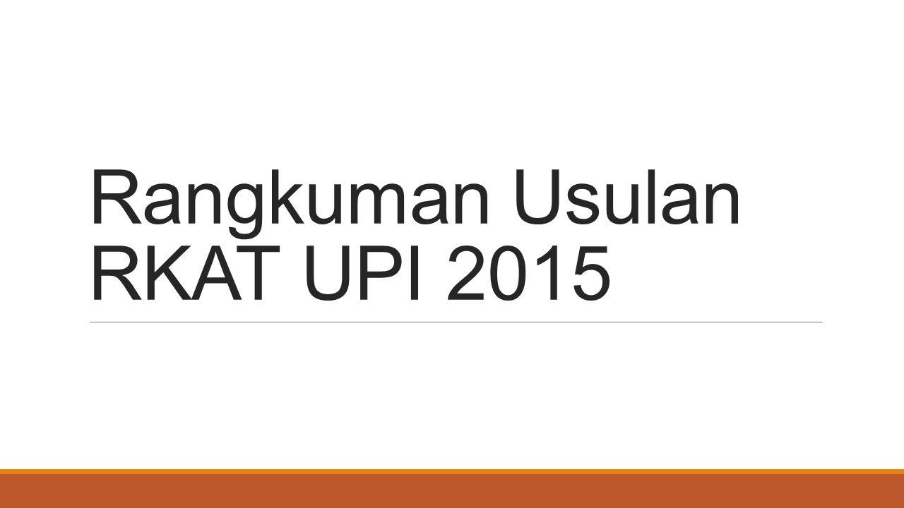 Rangkuman Usulan RKAT UPI 2015