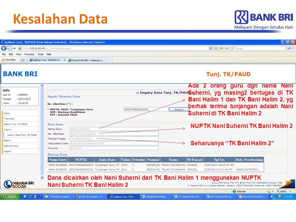 Kesalahan Data