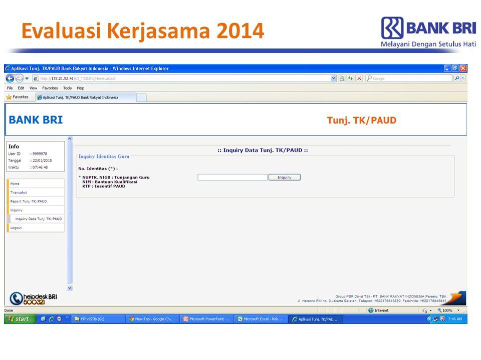 Evaluasi Kerjasama 2014