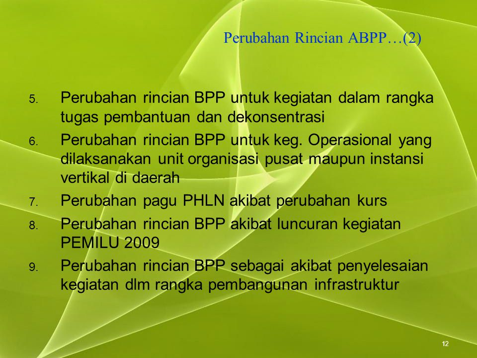 Perubahan Rincian ABPP…(2)