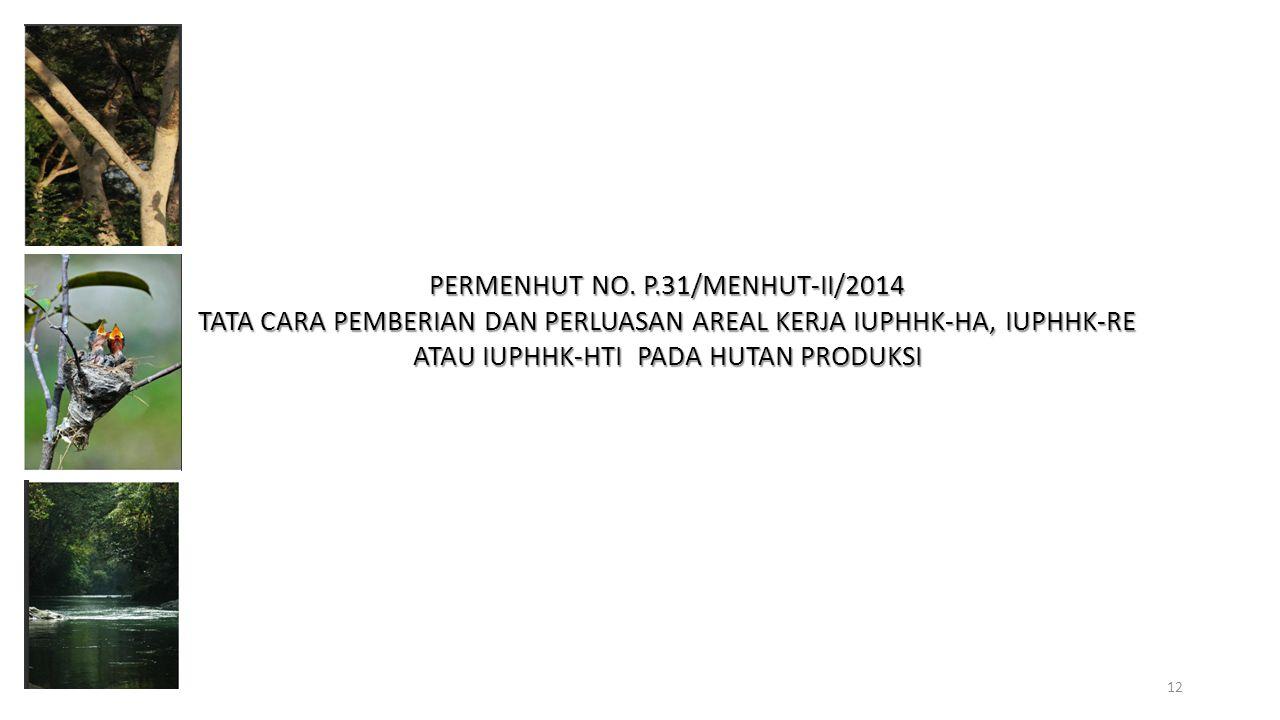 PERMENHUT NO. P.31/MENHUT-II/2014