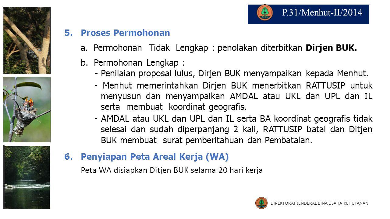 P.31/Menhut-II/2014 5. Proses Permohonan