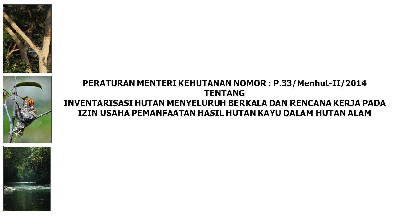 PERATURAN MENTERI KEHUTANAN NOMOR : P.33/Menhut-II/2014