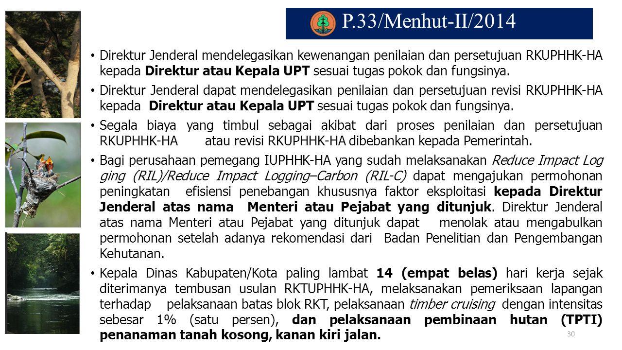 P.33/Menhut-II/2014