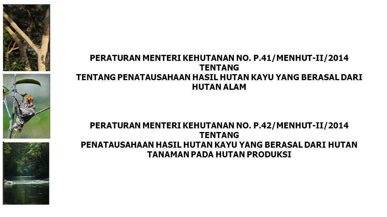 PERATURAN MENTERI KEHUTANAN NO. P.41/MENHUT-II/2014 TENTANG