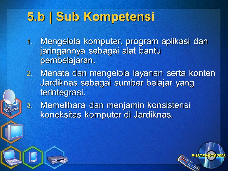 5.b | Sub Kompetensi Mengelola komputer, program aplikasi dan jaringannya sebagai alat bantu pembelajaran.