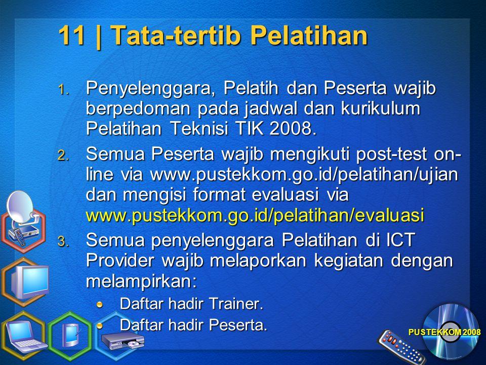 11 | Tata-tertib Pelatihan