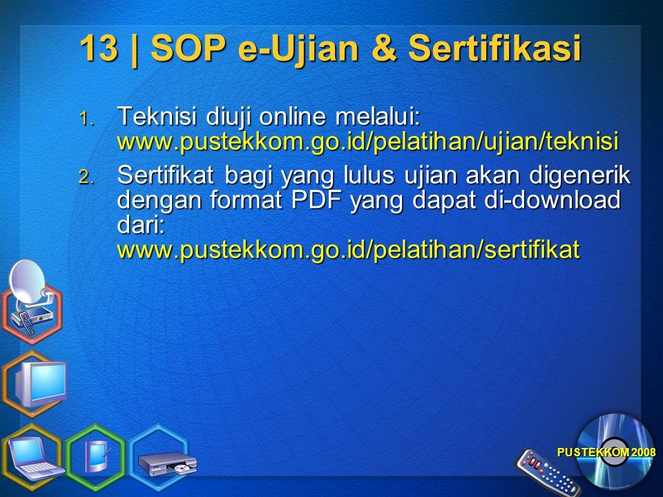 13 | SOP e-Ujian & Sertifikasi