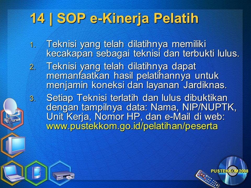 14 | SOP e-Kinerja Pelatih