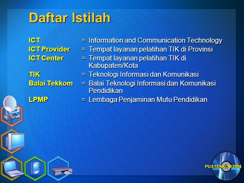 Daftar Istilah ICT = Information and Communication Technology