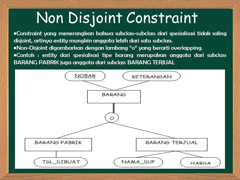 Non Disjoint Constraint