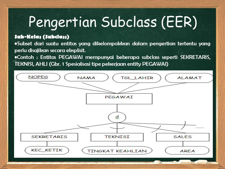 Pengertian Subclass (EER)