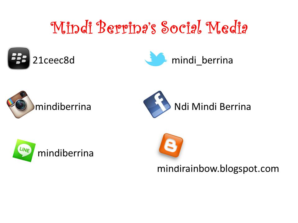 Mindi Berrina's Social Media