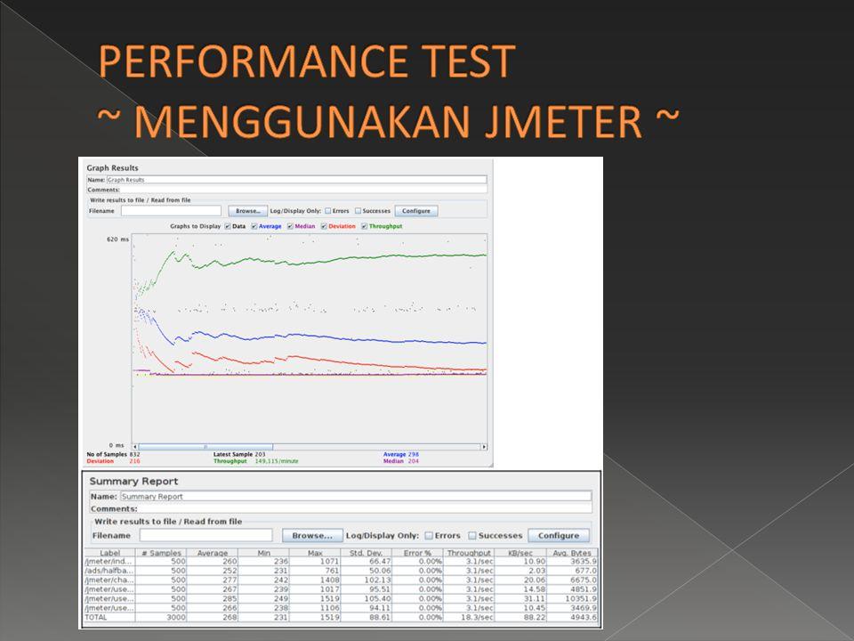 PERFORMANCE TEST ~ MENGGUNAKAN JMETER ~
