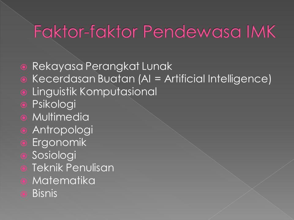 Faktor-faktor Pendewasa IMK