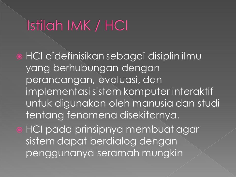 Istilah IMK / HCI