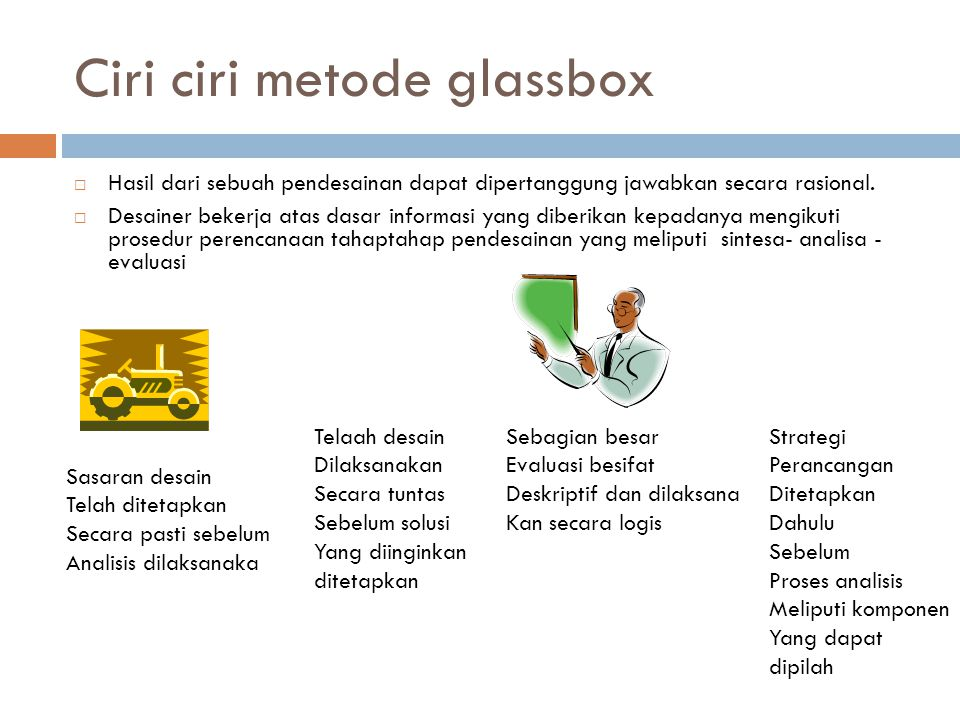 Ciri ciri metode glassbox
