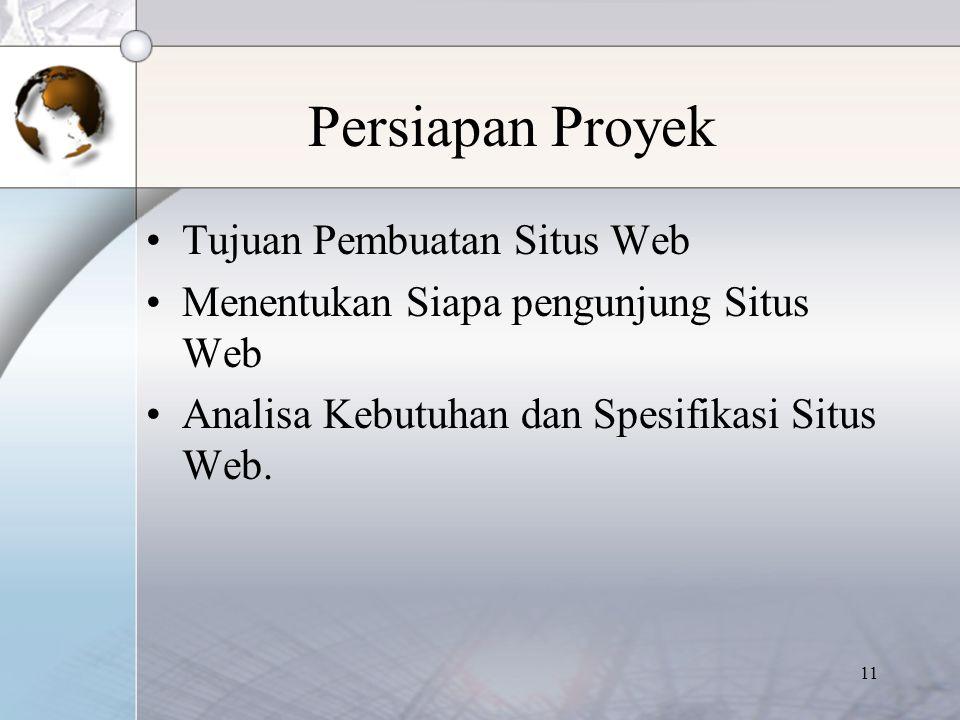 Persiapan Proyek Tujuan Pembuatan Situs Web