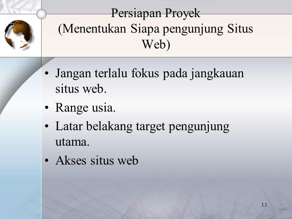 Persiapan Proyek (Menentukan Siapa pengunjung Situs Web)