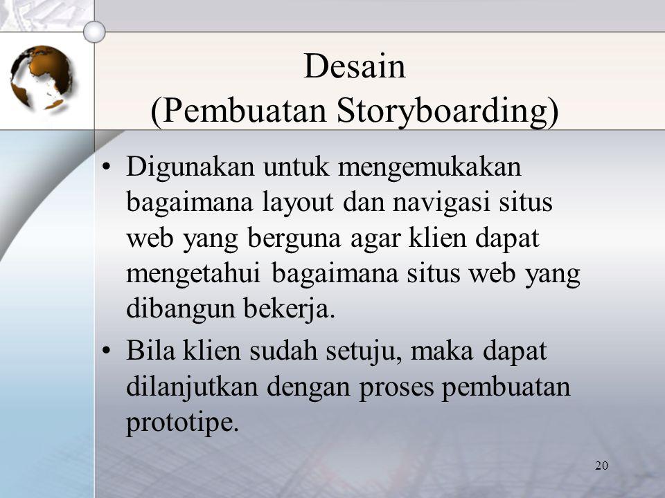 Desain (Pembuatan Storyboarding)
