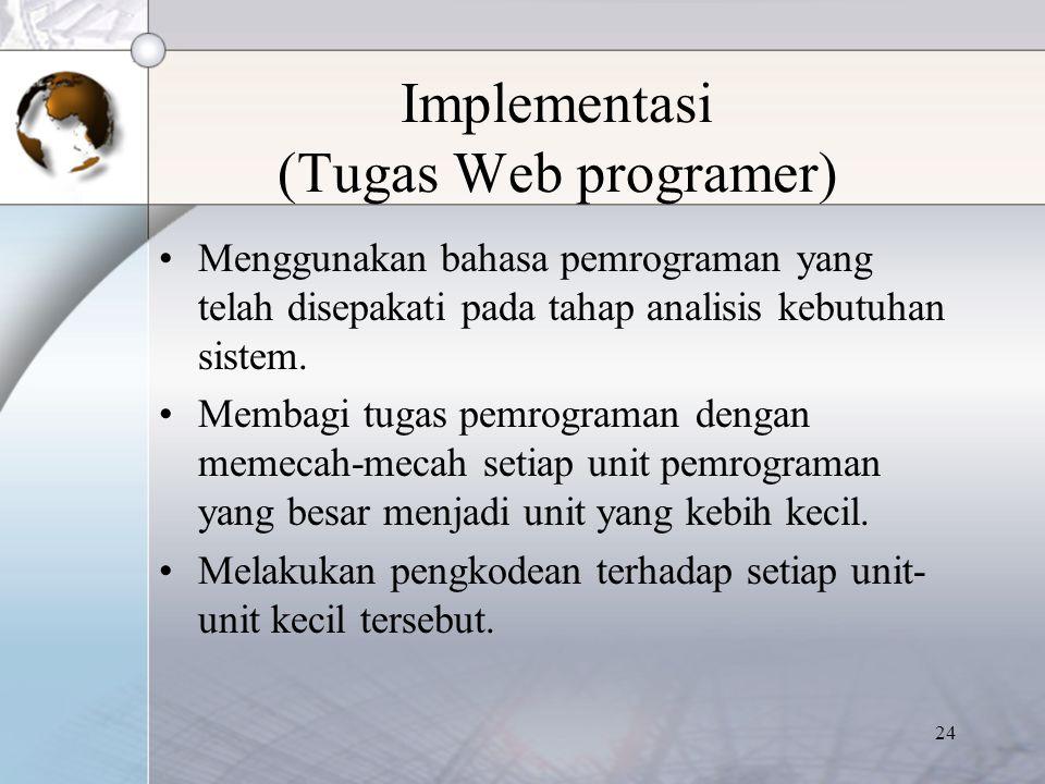 Implementasi (Tugas Web programer)