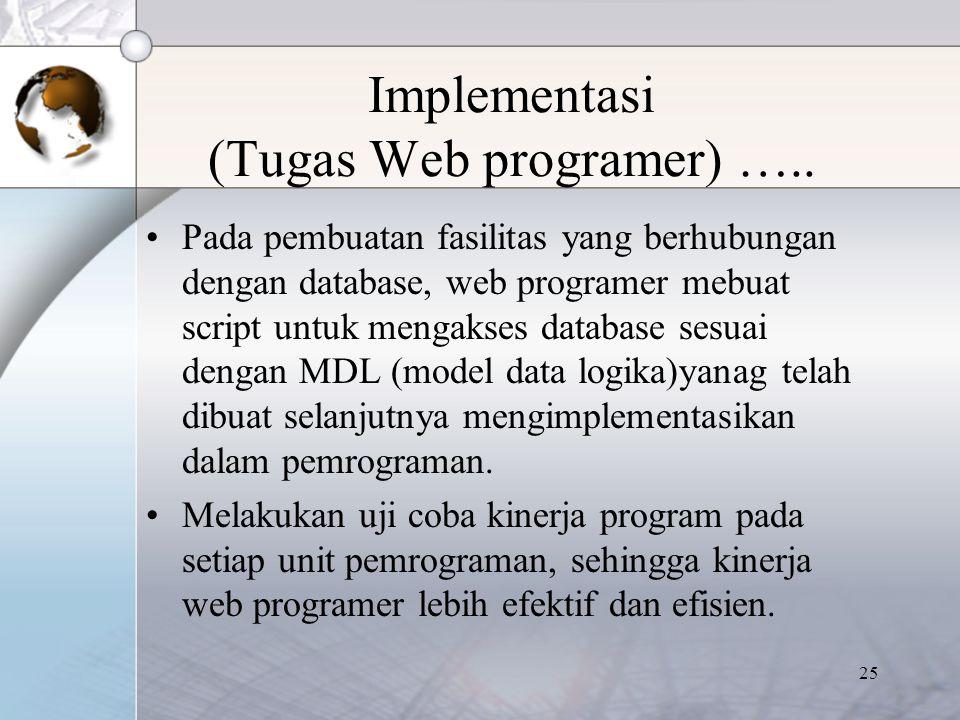 Implementasi (Tugas Web programer) …..