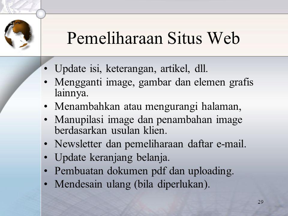 Pemeliharaan Situs Web