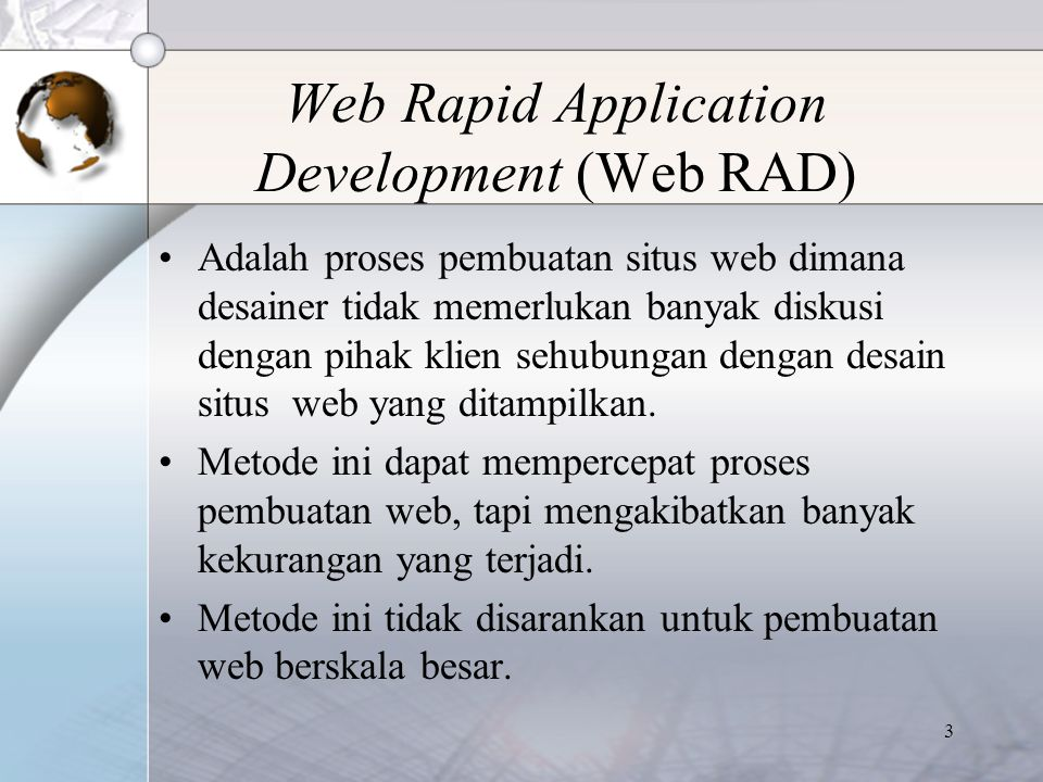 Web Rapid Application Development (Web RAD)