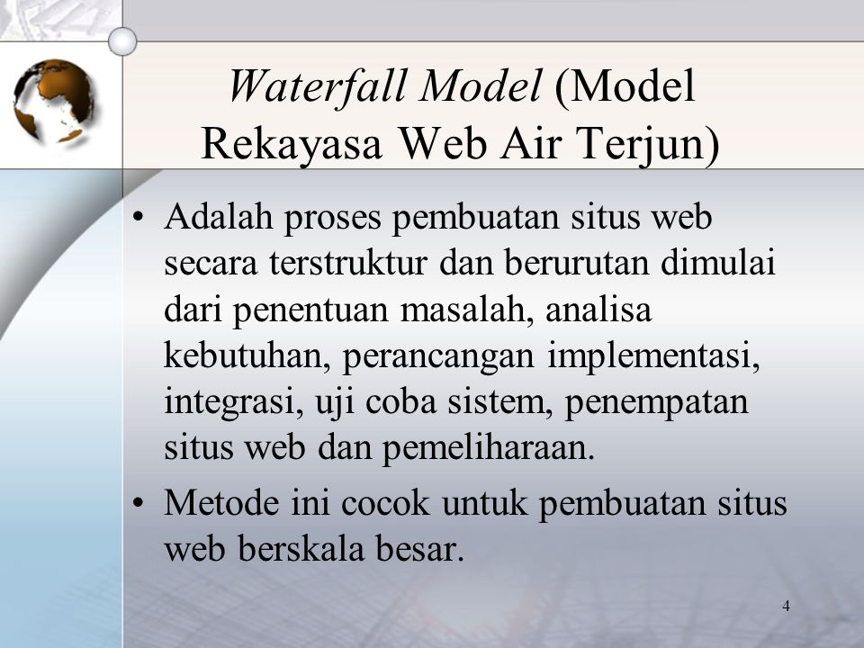 Waterfall Model (Model Rekayasa Web Air Terjun)