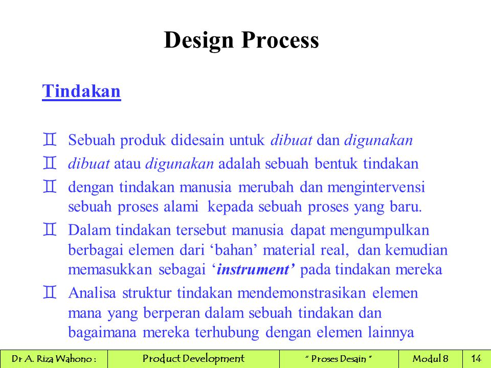Design Process Tindakan