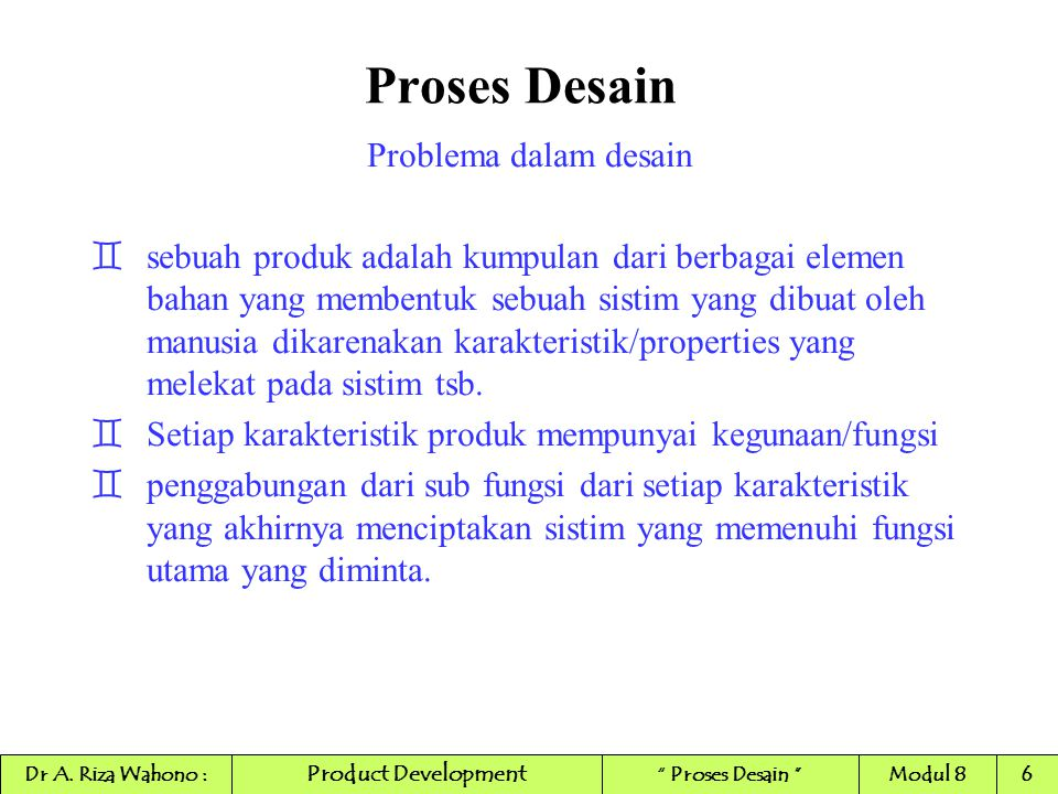 Proses Desain Problema dalam desain