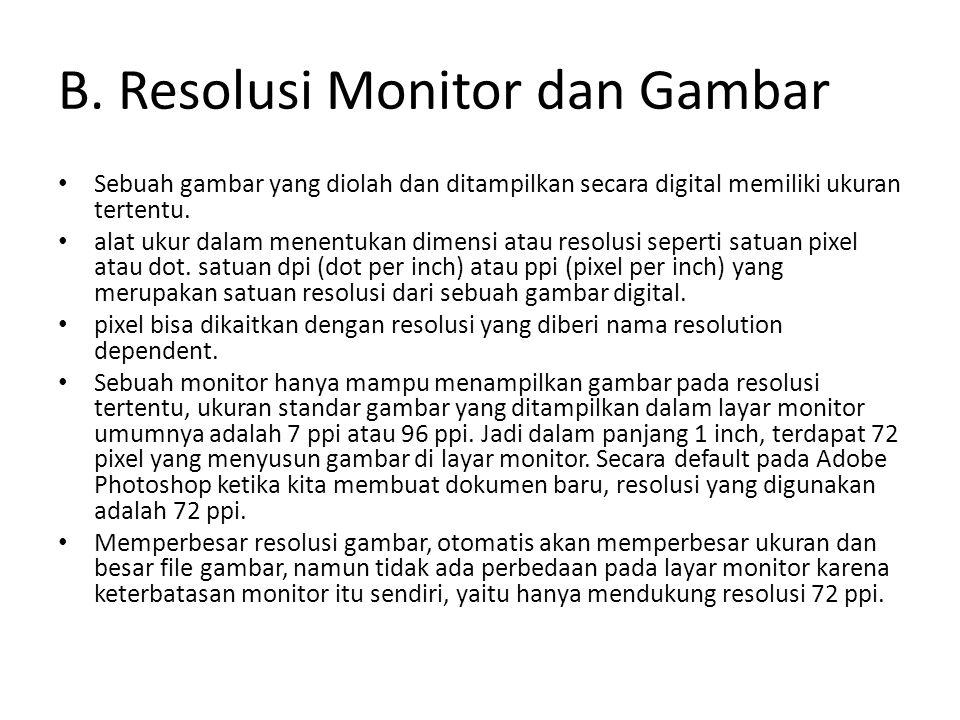 B. Resolusi Monitor dan Gambar