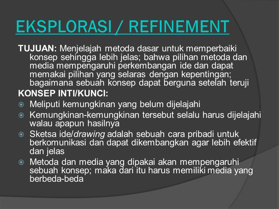 EKSPLORASI / REFINEMENT