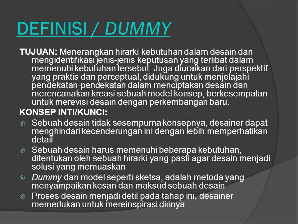 DEFINISI / DUMMY