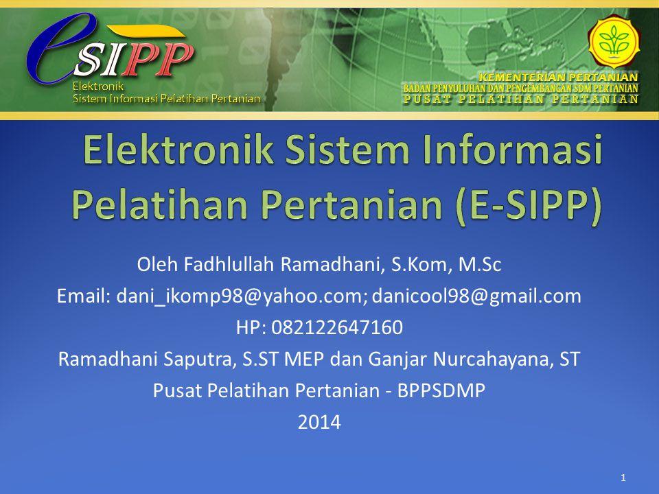 Elektronik Sistem Informasi Pelatihan Pertanian (E-SIPP)
