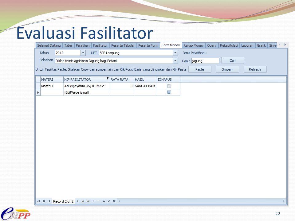 Evaluasi Fasilitator