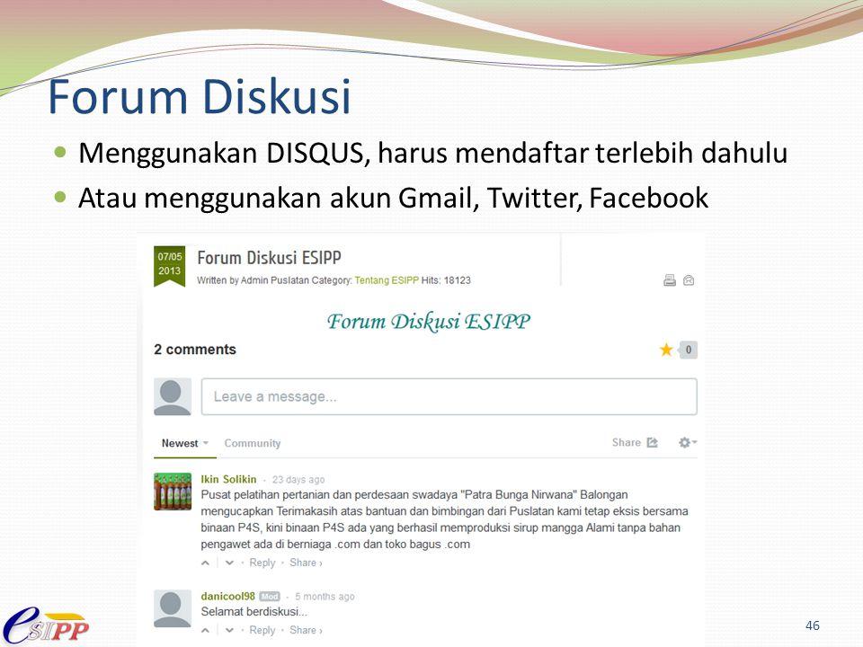 Forum Diskusi Menggunakan DISQUS, harus mendaftar terlebih dahulu
