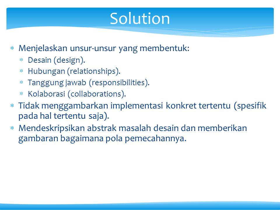 Solution Menjelaskan unsur-unsur yang membentuk: