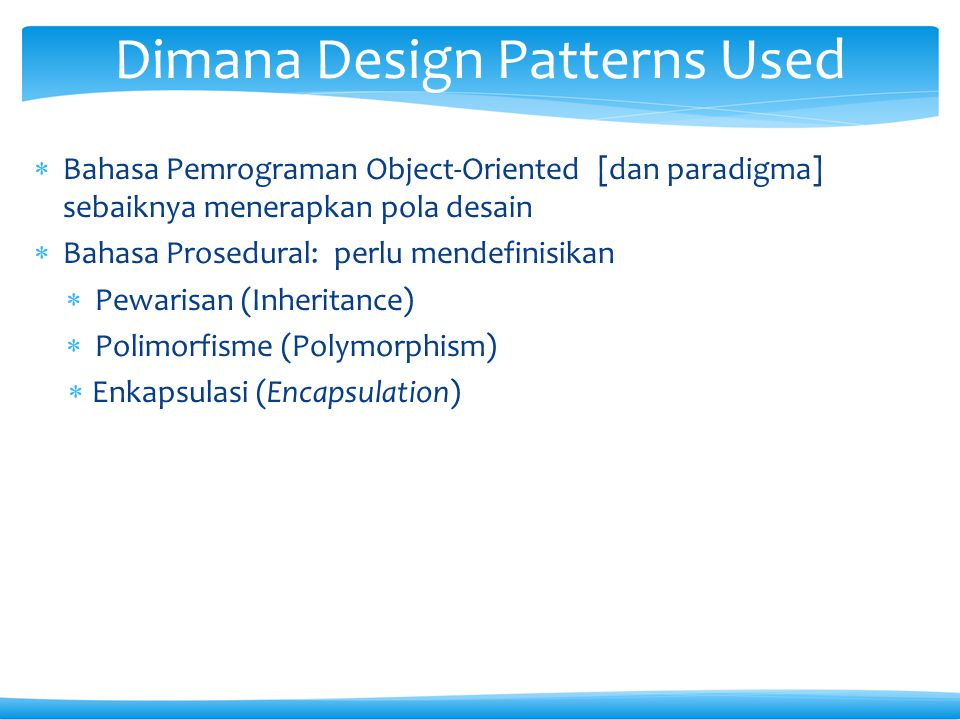Dimana Design Patterns Used