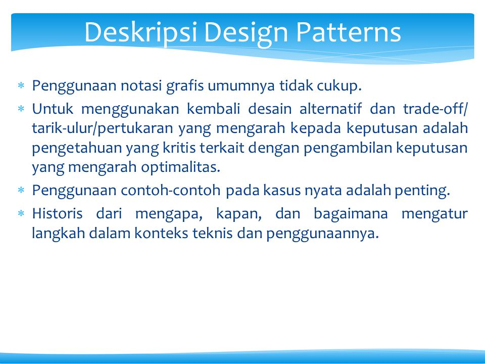 Deskripsi Design Patterns